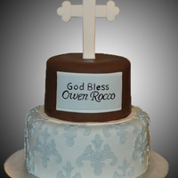 Baptism Cake I used my Cricut cutter for the design.