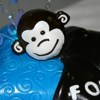 The Monkey Cake Chocolate on Chocolate. The monkey was something the baby held for his first year. After meeting the child, his charachter lended a pillow...