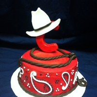 Rodeo Birthday This was a smash cake for baby's first Rodeo birthday. Buttercream with fondant accents.