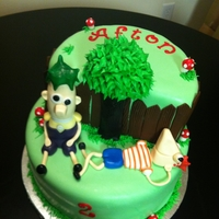 Phineas And Ferb Fondant cake with all fondant accents