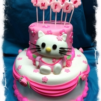 Hello Kitty All fondant. Kitty is RKT covered in fondant.