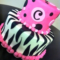 Pink Zebra Cake Nothing unusual here...just fondant cake.