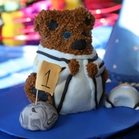 Space 1St I did this bear as a smash cake to go along with some cupcakes I made.