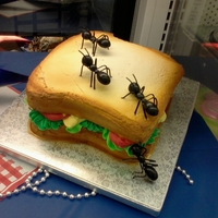 Sandwich all buttercream, ants are from deco pac