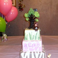 Pastel Jungle Baby Shower Covered in white chocolate fondant