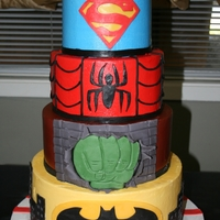Super Heros This cake was made for my friends child.