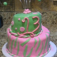 Somebody's 13 chocolate cake with a cream cheese oreo filling covered with fondant and gum paste accents