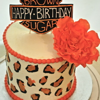"Cheetah And Harley Birthday Cake A 6"" strawberry cake with white chocolate SMBC. All fondant decorations."