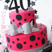 40Th Birthday Cake Buttercream Frosted gumpaste & fondant decorations TFL :)