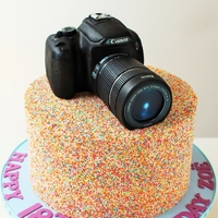 Had So Much Fun Creating This Sprinkles Camera Birthday Cake Camera Is All Edible   Had so much fun creating this Sprinkles Camera Birthday cake! Camera is all edible.