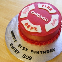 Cfd Birthday Cake Cake for a Fire Chief from the Chicago Fire Department