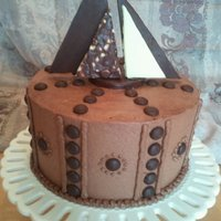 Chocolate Sailboat Theme This is a chocolate WASC torted, filled, and iced with chocolate SMBC. Dark chocolate dots and dark and white chocolate sails. Aside from...