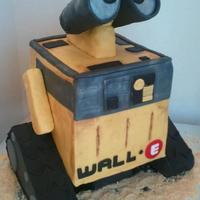 Wall E Wall E for my twins' 4th birthday. About 7x7x7 cut from a 12x18. Chocolate WASC torted and filled with peanut butter filling, iced...