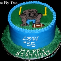 Ida Baker Bulldog Birthday Cake Buttercream cake with Bulldog fondant.