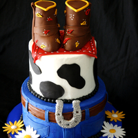 This Is A Buttercream Cake With Mmf Details Gumpaste Daises Boots Made Out Of Rkt This is a buttercream cake with mmf details, gumpaste daises, boots made out of RKT
