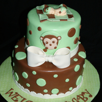 Monkey Baby Shower Cake Welcome Baby shower cake.