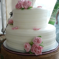 Pink & White Mixed Shaped Wedding Cake