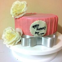 Mothers Day Single Tier Cake Mother's Day Single Tier Cake