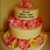 A Simple 2 Tiered Retro Wedding Cake A simple 2-tiered Retro Wedding Cake