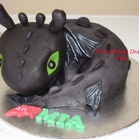 3D Toothless How To Train Your Dragon Birthday Cake Toothless How To Train Your Dragon Birthday Cake for a lovely 6 year old girl who is crazy over Toothless. Its chocolate cake with...