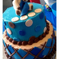 Blue Baby Shower Cake *