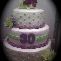 Lime Green And Purple Birthday