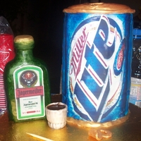 Miller Lite And Jagermeister Bottle this cake I mad for my cousin everything is edible