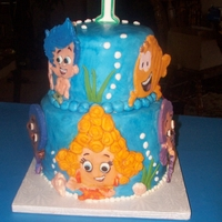 Bubble Guppies Cake I made for my great niece's 1st birthday