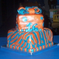 16Th Birthday I made this cake for my great niece's 16th birthday