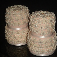 Romantic Wedding Cake Favors This was the second set of mini cakes for a local bridal show. They were used on a sweetheart table. There are approximately 70+ flowers I...