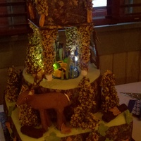 Camo Grooms Cake I was asked to do a groom's cake for 100 people. It had to be Mossy Oak camouflage, include a hunter, a deer and a Remington rifle. I...