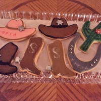 Cowgirl Cookies For Sofia, My Niece cowgirl cookies with MMF decorationsthank you everyone here on CC for inspiration!