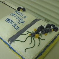 Virtuous Woman Proverbs 31:10   yellow cake with pineapple filling, fondant flowers and buttercream frosting