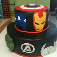 Avengers Cake Avengers cake I made for my son's 5th birthday. Thank you to the numerous inspirations here on CC!