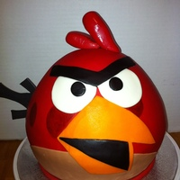 Angry Bird Cake And Cupcakes Toppers