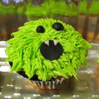 Fuzzy Monster Cupcakes *