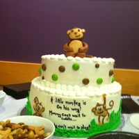 Monkey Baby Shower Cake I made this cake for my cousin's Baby Shower.