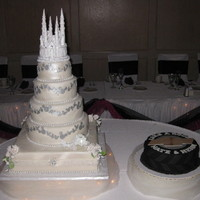 Magical Enchanted Disney Wedding Cake