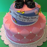 Princess Birthday Cake With Clicky Shoes