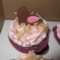Birds And Nests Baby Shower Cupcakes