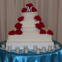 Scroll Design Wedding Cakes I am a 17 year old that loves to decorate cakes!! This particular was one of the four I had due this weekend! :)