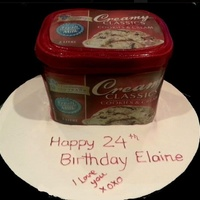 This Girls Favourite Ice Cream Made Into A Birthday Cake This girls favourite ice cream made into a birthday cake