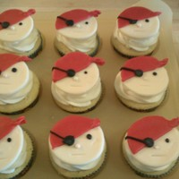 Pirate Cupcakes Buttercream with fondant faces