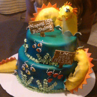 Sea Serpent Cake Sea Serpent is made of gumpaste. I piped dry ice through the head so smoke came out of her nostrils.