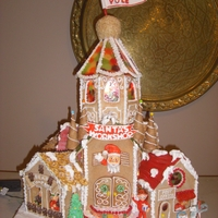 Santa's Workshop  This is a gingerbread house I made for a local contest. It is 2 ft by 2 ft by 3 ft. It is decorated all the way around and was lit from the...