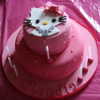 Charmmy Kitty Nearly forgot to take a photo, rushed job as the children were arriving so I apologise for quality of picture. Sponge cake covered in...