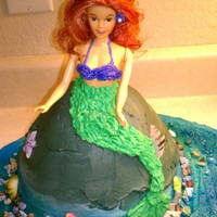 Ariel Cake Strawberry cake with Buttercream frosting.