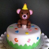 Bear Cake & Cupcakes Made for a celebration at a pediatrician office.