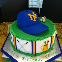 Mets And Golf Birthday Cake Mets and Golf birthday cake.