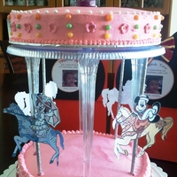 Minnie Mouse Carousel Cake It's my two angel's birthday, Ashley (8 yrs old) & Lauren (2 yrs old). My Lauren loves to ride carousel each time we went to...